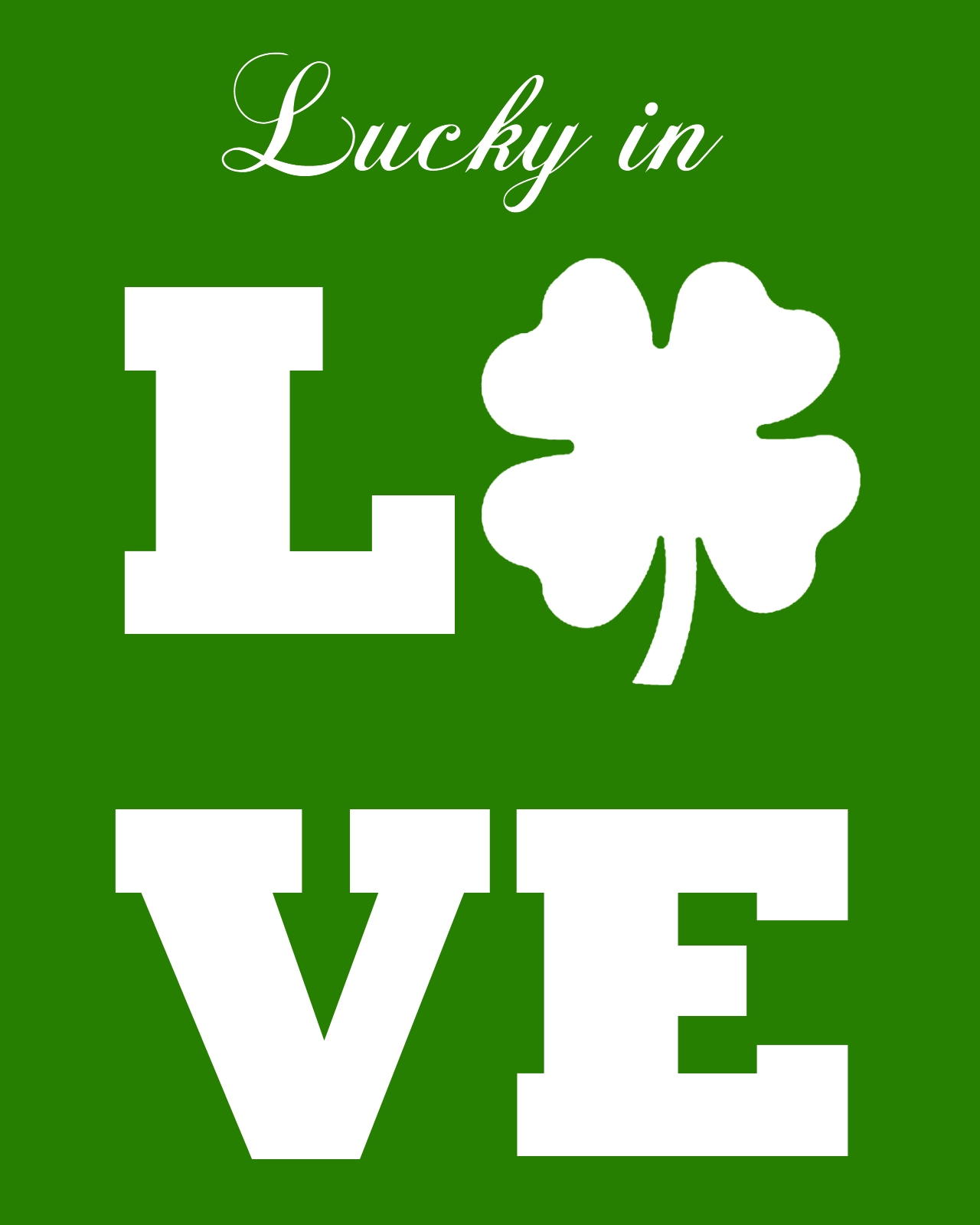 lucky in love green back